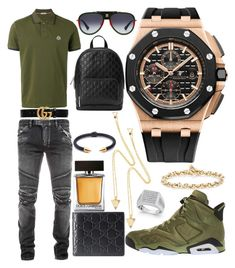 """Casual"" by pitbull8382 on Polyvore featuring Moncler, Balmain, Gucci, Audemars Piguet, Hoorsenbuhs, Marco Ta Moko, Dolce&Gabbana and Vita Fede"