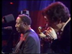 "Muddy Waters With Pinetop Perkins and Jerry Portnoy. Singing ""Champagne and Reefer."""