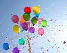 what says birthday like rainbow balloons on a sunny, sunny day? Bubble Balloons, Rainbow Balloons, Colourful Balloons, Red Balloon, Happy Balloons, Colorful, Anime Plus, Anime W, Baby Birthday