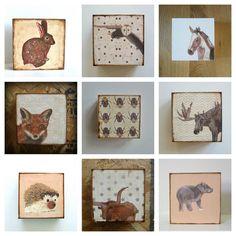 Nursery Art Block l Choose 1 One of our Custom by redtilestudio