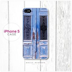iPhone 5 case Blue French Doors.  via Etsy.