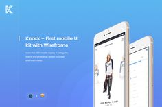 """Check out this @Behance project: """"Knock – First mobile UI kit with Wireframe"""" https://www.behance.net/gallery/45709675/Knock-First-mobile-UIkit-with-Wireframe"""