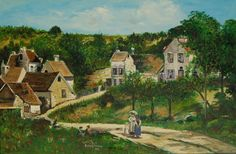 Rebeca Dewey - Study of Cammille Pissarro's 'The Hermitage at Pontoise'