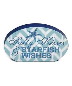 Love this 'Salty Kisses & Starfish Wishes' Box Sign on #zulily! #zulilyfinds