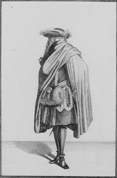 Gentleman in Winter Fashion, 1690.