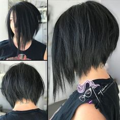 Short asymmetrical bob hairstyles for 2018 Best Picture For ombre hairstyles prom For Your Taste You Inverted Bob Haircuts, Bob Haircuts For Women, Round Face Haircuts, Short Bob Haircuts, Hairstyles For Round Faces, Short Hairstyles For Women, Layered Hairstyles, Hairstyles 2018, Braided Hairstyles