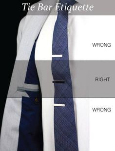 Quick tip: There is both a right and wrong way to wear a tie bar.