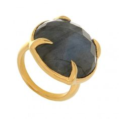 gold plated and Labradorite ring