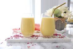 The Perfect Mango Lassi Cocktail Drinks, Cocktails, Mango Milkshake, Mango Lassi, Coconut Yogurt, Plain Yogurt, Vegan Options, 2 Ingredients, Simply Beautiful