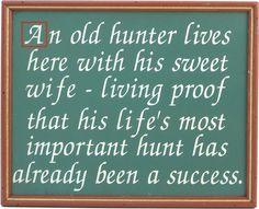 Northwest Gifts - Old Hunter Sign