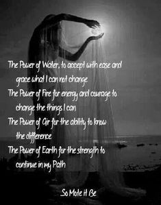 Pagan retelling of Serenity Prayer. Magick Spells, Wicca Witchcraft, Healing Spells, Serenity Prayer, Practical Magic, Book Of Shadows, Spelling, Namaste, Affirmations