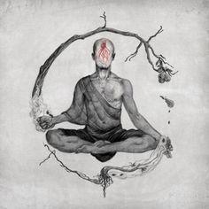 ॐ Transcend Reality ॐ: Photo - Piper L. Buddha Tattoo Design, Buddha Tattoos, Zen Tattoo, Back Tattoo, Lotus Tattoo, Tattoo Ink, Yoga Tattoos, Body Art Tattoos, Hand Tattoos