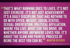 It's just about being the best you can be #running