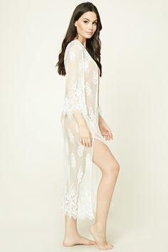 fc1f1b33d8 Stylish Swimwear-Cover ups · A sheer lace swim kimono featuring eyelash  lace trim
