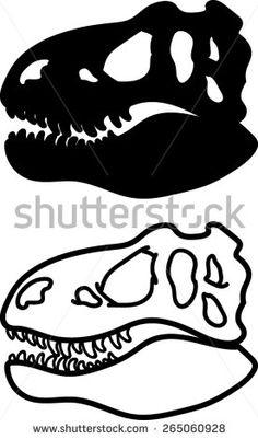 T-rex Head Silhouette Outline - Vector Art Park Birthday, Dinosaur Birthday Party, 6th Birthday Parties, Boy Birthday, Dinosaur Outline, Dinosaur Head, Dinosaur Cake, Jurassic Park Party, T Rex