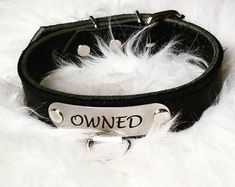 Submissive Black BDSM Collar with Custom name, Owned collar, Black bdsm collar, Black custom name bondage collar, submissive collar Kitten Play Gear, Kitten Play Collar, Slave Collar, Collar And Leash, Collars Submissive, Goth Accessories, Kittens Playing, Leather Collar, Clutch