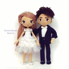 Amigurumi wedding dolls. Bride and groom (Inspiration).