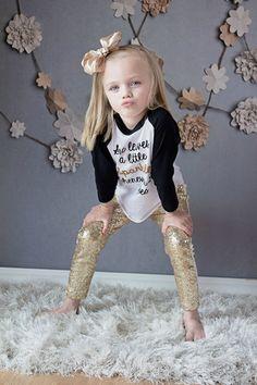 Gold Shimmering Leggings