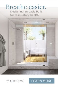 Optimizing your bathroom to be the ultimate wellness retreat? Upgrade your outdated rituals to a more streamlined application of at-home steam therapy. Oasis, Bath Tiles, Bathroom Interior Design, Beautiful Bathrooms, Bathroom Inspiration, Kitchen And Bath, Cheap Home Decor, Home Remodeling, New Homes