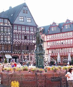 Germany- on my bucket list. Frankfurt,Germany - Spent lots of time in the Romer Platz in Frankfurt! Places Around The World, Oh The Places You'll Go, Travel Around The World, Places To Travel, Places To Visit, Around The Worlds, Wonderful Places, Beautiful Places, Frankfurt Germany