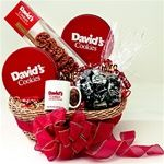 Valentine's Day Gift Baskets Cookie Gift Baskets, Valentine's Day Gift Baskets, Cookie Gifts, Cool Gifts For Teens, Best Gifts For Mom, Davids Cookies, Lace Cookies, Gourmet Cookies, Baby Shower Presents