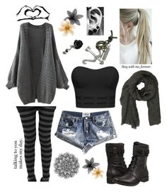 """Stay With Me Forever"" by hannahc1133 ❤ liked on Polyvore featuring UGG Australia, Akris, One Teaspoon, Bellybutton and Love Quotes Scarves"