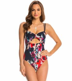 0489c4055ae6e Kate Spade Colombe D Or Peep Hole One Piece Swimsuit Cut Out One Piece