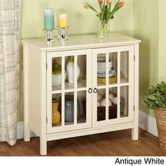 Simple Living Portland Glass Door Cabinet - Free Shipping Today - Overstock.com - 16477020 - Mobile