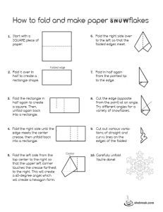 How to: Easy Paper Snowflake patterns and templates! - She Break