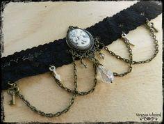 Gothic Style Victorian Skeleton Lady Choker Black Lace Choker, Jewelry Design, Unique Jewelry, Red Glass, Gothic Fashion, Skeleton, Glass Beads, Lyrics, Chokers