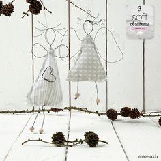 Blumendraht-Engel // Ein Weihnachtsengel, aus Blumendraht gebogen und mit einem…
