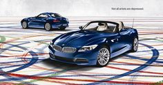 I'm quite into cars and I like the affect of the tyres and the paint in this BMW advertisement.