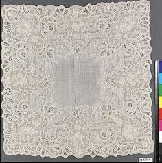 Handkerchief Purchased at the Paris Exposition in 1900.