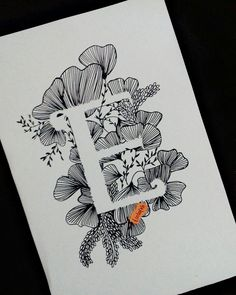 Pin by elizabeth sork on zentangle иллюстрации, открытки Zentangle, Tangle Doodle, Doodle Doodle, Doodle Art Letters, Face Sketch, Floral Letters, Face Art, Art Tutorials, Diy Art