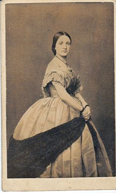 Actress Agnes Robertson, Mrs. Dion Boucicault, by Charles D. Fredricks & Co, New York.