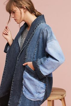 Jadira Denim Kimono. Crafted of the highest quality denim, this Pilcro piece is refined, sophisticated and resilient.