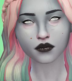 "STRANGENESS AND CHARM - SUPERNATURAL EYE OVERLAYS BY PYXIS ""So this is something I've been sorely missing in my game. I recreated my Home-Made Alien set from TS2, and added blind/zombie and a red..."