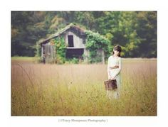 Photography,  Rustic Barn, Field, suitcase, Vintage, Tracy Shoopman Photography