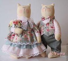 Купить Николя и Николь Влюбленная пара - кукла ручной работы, кукла Тильда, кукла текстильная