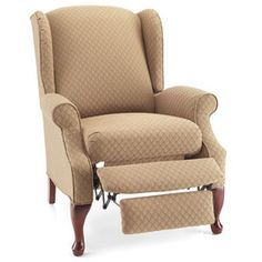 Lane® 'Hampton' Wing-Back Style High-Leg Recliner - Mom really wants wing backed recliners for the library once it's finished