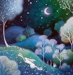 Art print titled 'Under the Stars', from an original painting by Amanda Clark