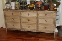$45 Goodwill find refurbished with Annie Sloan Chalk Paint and new knobs from Hobby Lobby