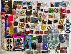 HUGE LOT OF BEADS GLASS BOTTLES JEWELRY MAKING SUPPLIES FINDINGS PENDANTS CHARMS #Assorted
