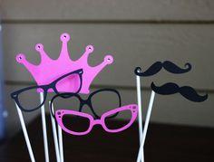 Set of 6 punk princess photobooth/photo prop set. $10.00, via Etsy.