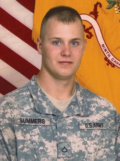 Army CPL James E. Summers III, 21, of Bourbon, Missouri. Died May 28, 2007, serving during Operation Iraqi Freedom. Assigned to 6th Squadron, 9th Cavalry Regiment, 3rd Brigade Combat Team, 1st Cavalry Division, Fort Hood, Texas. Died of injuries sustained when an improvised explosive device detonated near his vehicle during combat operations in Abu Sayda, Diyala Province, Iraq.