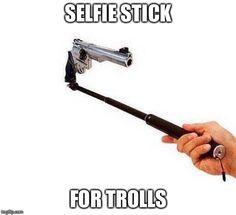 Troll selfie stick