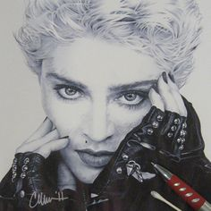 Madonna in Ballpoint ~ Drawing by ~Live4ArtInLA on deviantART