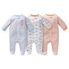 Amazon.com: Gerber Unisex-Baby Sleep N' Play Footed Sleepers - Teddy Bears: Clothing