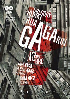 Theatre #Posters Découpage photographique, chaos, effondrement, typographie