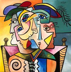 Picasso Cubism, Pablo Picasso, Art Encadrée, Tableau Pop Art, Art Sur Toile, Urbane Kunst, Cubist Art, Abstract Face Art, Art Original